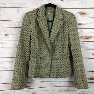 Tapemeasure Tapestry Embroidered Blazer